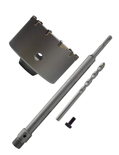 BINOTA Concrete Hole Saw SDS Plus Shank for Cement Brick Wall, 100 mm