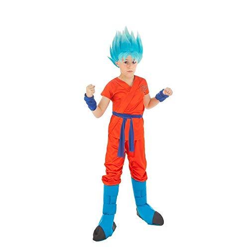 Generique - Costume Goku Super Saiyan Dragon Ball Z Bambino 11/12 Anni (152 cm) Costume Goku Super Saiyan Dragon Ball Z Bambino 11/12 Anni (152 cm)