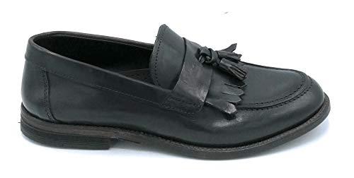 Pawelks 19019 Mocassin Nappa zwart Frankrijk kwasten - schoen 43 kleuren zwart