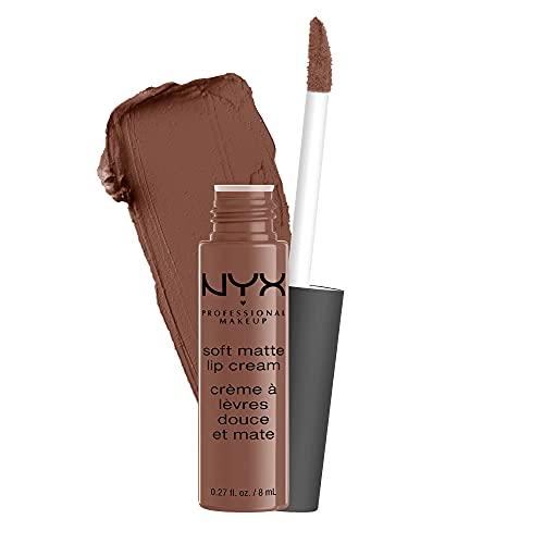 NYX PROFESSIONAL MAKEUP Soft Matte Lip Cream, Lightweight Liquid Lipstick - Dubai (Medium Cool Brown)