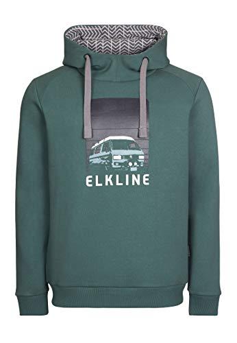 Elkline Herren Hoodie Vantastic VW-T3 Synchro Bulli Print 1031086, Farbe:Trekking Green, Größe:XXL