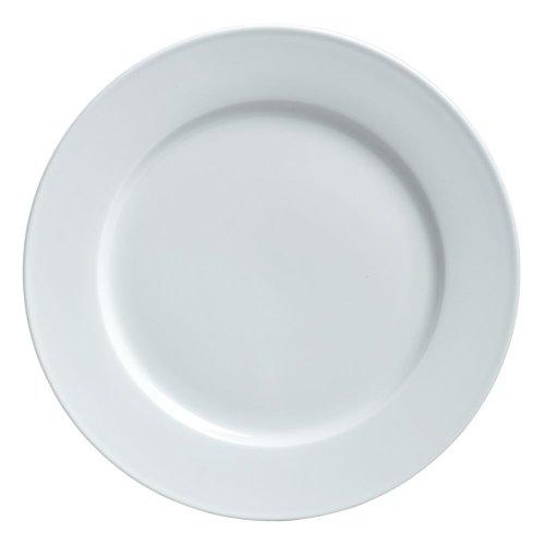 """Steelite 6900E505 Varick Cafe Porcelain 8"""" Plate - 12 / CS"""