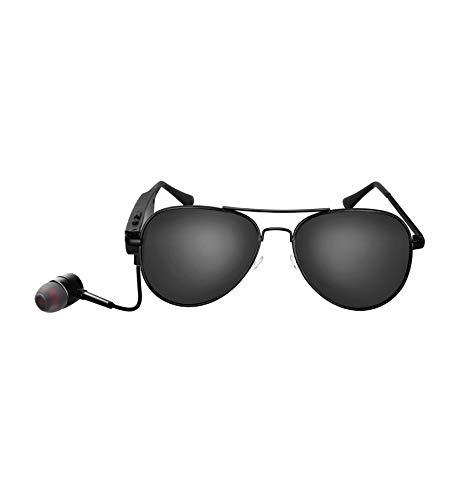 ZOUSHUAIDEDIAN Gafas de sol de Bluetooth for Hombres prevenir eficazmente los rayos ultravioletas nocivos y azul de luz polarizada for Wireless Music Center Gafas de sol con manos libres estéreo, inte