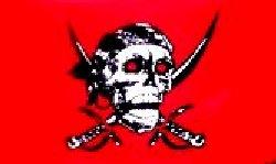 Novelties Direct Rouge Tête de mort 1,5 x 0,9 m (100% polyester) avec oeillets pour suspendre