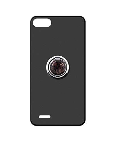 Sunrive Kompatibel mit Vodafone Smart E8 Hülle Silikon, 360°drehbarer Ständer Ring Fingerhalter Fingerhalterung Handyhülle matt Schutzhülle Etui Hülle (Schwarzer Marmor) MEHRWEG