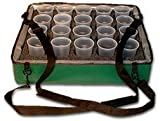 TCB Insulated Bags HWK-B-Green Beverage Carrier with 20 Hole Foam Insert, 20' x 24' x 6', Green