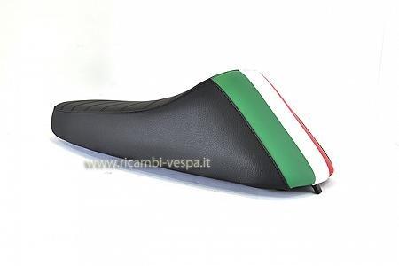 Asiento SPORT modelo completo en negro con bandera italiana