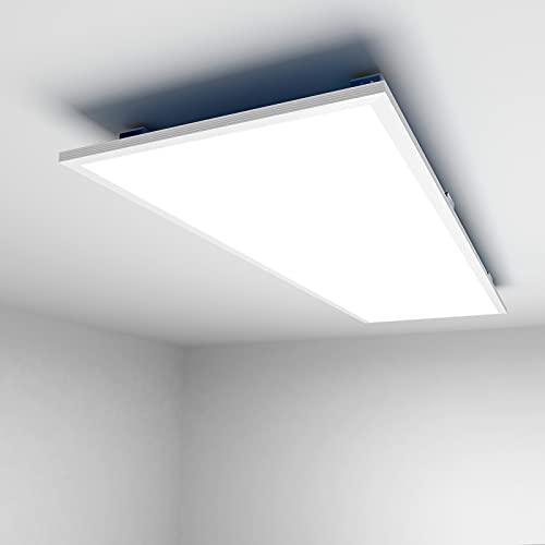 [Premium 120 lm/W] LED Deckenleuchte panel 36W, Flimmerfrei 120x30CM 4000LM UGR=17 4000K Ultraslim Deckenlampe, LED Bürodeckenleuchte flach für Büros, Gewerbeflächen, Multimedia-Raum, Fotostudio