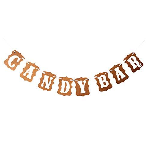 Amosfun Candy Bar Banner Desert Bunting Flags Papel Colgando Guirnalda Decoraciones para...