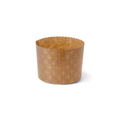ARCOBALENOPARTY 5 moldes para panettone de 1000 g, de papel