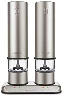 Cuisinart Rechargeable Electric Salt & Pepper Mill Set in Brushed Stainless Steel SP-4Newest Model