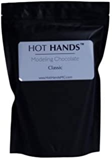 Modeling Chocolate, Premium Gourmet Modeling Chocolate for cakes in WHITE 2 Pound Pack by Hot Hands Modeling Chocolate for Cookies, cakes and cake pops (OFF WHITE CHOCOLATE COLOR)
