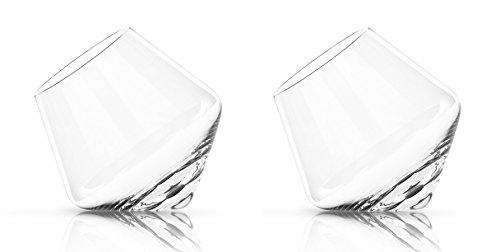 Glassquisite - Design Gläser - 2er Set mit Kreisel-Effekt - 2 x 275ml (1)
