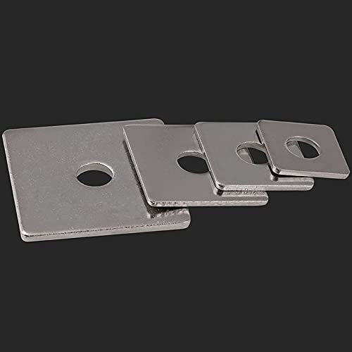 White Zinc Square Washer Gasket Inner 10Pcs A Finally popular brand surprise price is realized Diame M3-M16