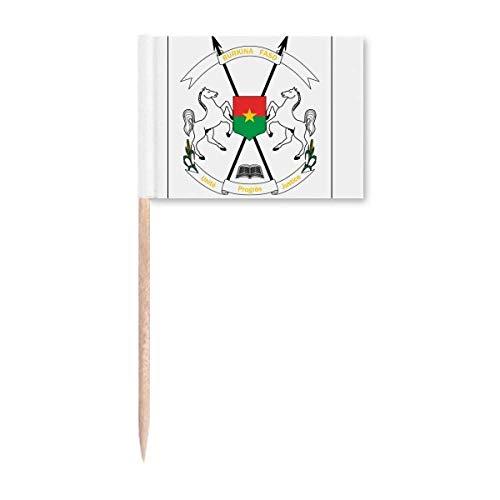 Ouagadougou Burkina Faso National Emblem Zahnstocher Flags Marker Topper Party Dekoration
