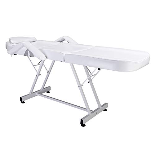 75' Adjustable Beauty Salon SPA Massage Bed Tattoo Chair White
