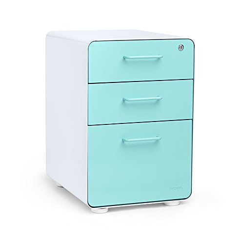 Poppin Black Stow 3-Drawer File Cabinet, Available in 10 Colors, Legal/Letter