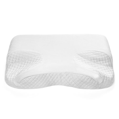 CPAP Memory Foam Pillow By GoodSleep - For BiPAP, APAP & CPAP Mask Users - Nasal Cushion For Side,...