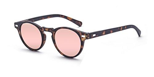 ALWAYSUV Occhiali da sole rotondi retrò con borchie Occhiali da sole UV400 Occhiali da sole moda