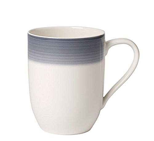 Villeroy & Boch Colourful Life Cosy Grey Kaffeebecher, Premium Porzellan, Weiß, 10 x 10 x 6 cm
