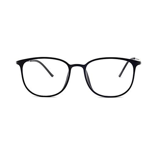 Großer Full Frame Lesebrille, Klare Sichtscheibe, Brillen, Damen Modren, progressives blaues Licht, Computer-Frühlings-Scharnier-Brille 1.5 3.0 (Color : Schwarz, Size : 1.5)
