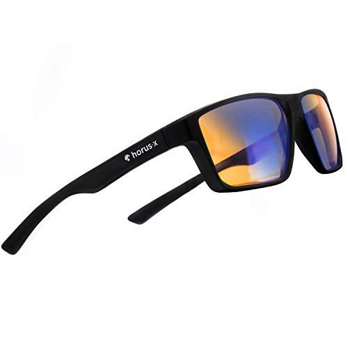 Horus X - Gafas anti luz azul GAMING 2.0 - Gafas de reposo Filtro Proteccion Ultima - Anti luz azul para pantallas (video juegos consola ordenador PC) - Accesorio Gamer & Esport - Hombre y mujer