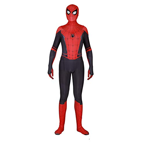 Spider Man Costume,Spider Man Far from Home Suit Cosplay for Men Boys, Daily Edition, Medium