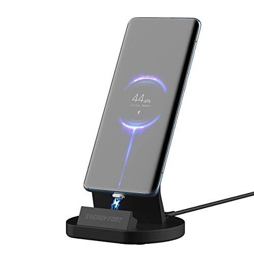 Sikai Gen11 Base de Carga Magnético Rápida para Android Samsung/ Xiaomi/ Sony/ Huawei/ LG, Cargador Iman con Adaptador Micro USB / USB C , Magnetico Dock con USB-C Cable Soporta 5A