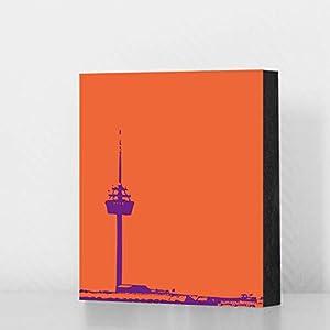 Bild – Colonius (orange), 10x10cm oder 14x14cm, MDF, Geschenk, Deko, Köln, Kölngeschenk, Ehrenfeld, Cologne, Holz, Kunst…