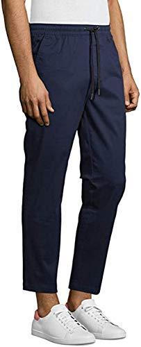 No Boundaries Men's Tapered Stretch Jogger Pants (Navy, 2XL 44/46)