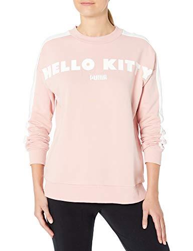 PUMA Sudadera con cuello redondo X Hello Kitty para mujer - plateado - XS