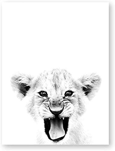 Surfilter Print auf Leinwand Lion Poster Print Wildlife Wandkunst Leinwand Malerei Lion Cub Moderne Fotografie Bild Home Decorative 23.6& rdquo; x 35.4& rdquo; (60x90cm) No Frame