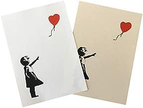 バンクシー BANKSY Girl-With-Balloon 風船と少女 デザインポスター アート A4サイズ 用紙タイプ:ホワイト