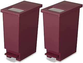 新輝合成 フタ付きゴミ箱 ユニード ゴミ箱 ペダル プッシュ ペール ワイン 2個セット 20L