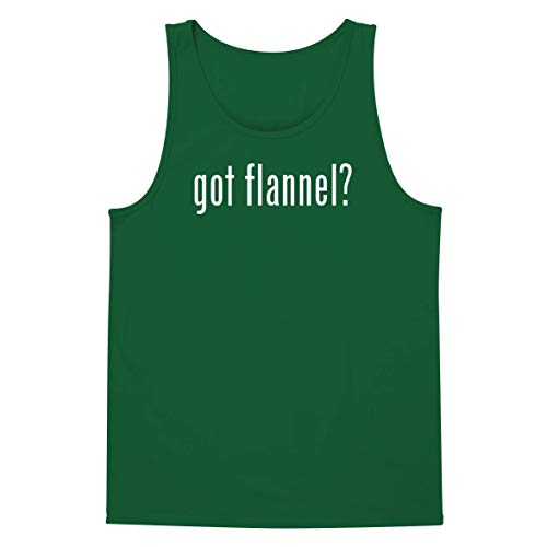 The Town Butler got Flannel? - A Soft & Comfortable Men's Tank Top, Green, Small