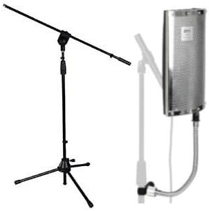 high quality LyxPro VRI-40 Portable Acoustic sale Isolation Instrument Shield, Sound 2021 Absorbing, Reflection Panel with Heavy Duty Gooseneck With Adjustable Stand outlet sale