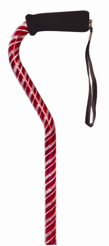 Essential Medical Supply Laser Cut Offset Cane, Red - http://coolthings.us