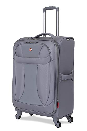 SWISSGEAR 7208 Neolite Suitcase   24-Inch Expandable Luggage   Gray