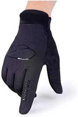 Autumn and Winter Men and Women's Thicken Warm Touch Screen Gloves Male Winter Elastic Breathable Riding Sports Glove R089 - (Color: D Black, Gloves Size: Women)