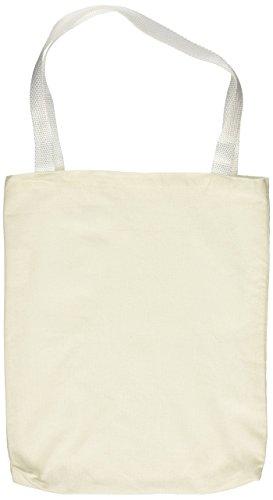 Rhode Island Novelty Bolsas de compras de algodón, color natural, 12.75″, 12 unidades, blanco