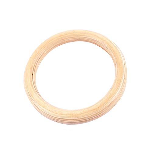 LUCYPAPASHOW Holz Gym Ringe (28MM / 32MM) Premium-Birkenholz, Heimtraining, Bodybuilding | Erwachsene Kinder Mann Gymnastikringe Ohne Gurt (Einzelpackung)