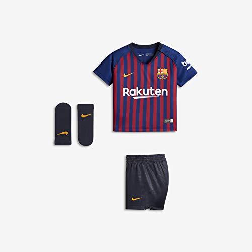NIKE FC Barcelona I Nk BRT Kit Hm Conjunto 1ª Equipación, Unisex bebé, Azul (Deep Royal/Obsidian/University Gold), 18/24 Meses