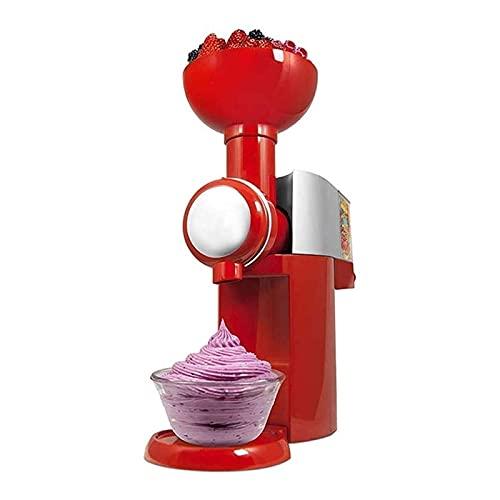 Macchina per Gelato, Gelatiera ad Accumulo per Sorbetti Frozen Yogurt Gelato Artigianale Fatto in Casa, Completamente Smontata per Facile da Pulire, per Frutta Congelata (Color : Red)