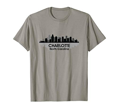 CHARLOTTE, NC | City Pride Skyline Art Silhouette T-shirt