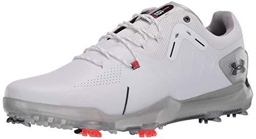 Under Armour Men's Spieth 4 Gore-TEX Golf Shoe, White (100)/Black, 10.5 M US