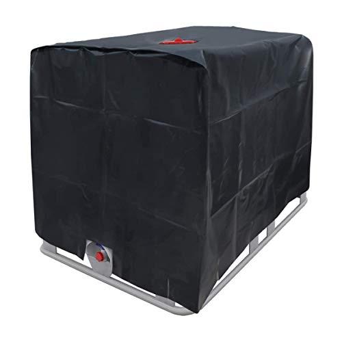Optizium Wassertank Abdeckplane - 1000 L - 120 x 100 x 116 cm - IBC-Tank Behälter Container UV-Folie Schutzhülle Schutzplane Schutzhaube Cover