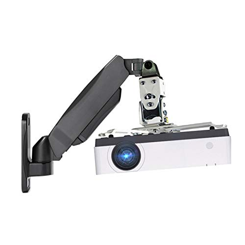 xiaokeai Atriles para proyectores Soporte de Montaje Giratorio de proyector de Pared - Soporte Universal del proyector - Altura Ajustable y Brazos Uso doméstico o de Oficina Soportes para proye