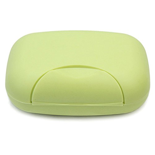 Lyuboov 1pcs Plastic Soap Case Porte-boîte Conteneur pour Les Voyages en Plein air Utilisation à la Maison (Green)