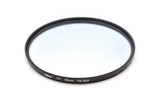 vhbw Universal UV Filter kompatibel mit Kamera Objektiven mit 95mm Filtergewinde - UV Schutzfilter, Schwarz