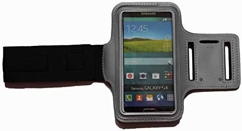 Sport-Armband Schweißfest Schutztasche für Sony Xperia Z3 Compact Fitness Handyhülle Armtasche mit Kopfhöreranschluss, Laufen, BSM Grau